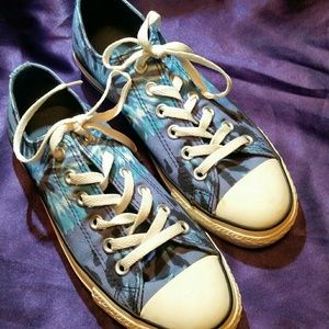 Tie-dyed Converse All-Stars